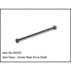 CENTER REAR DRIVE SHAFT