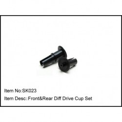 FRONT & REAR DIFF DRIVE CUP SET
