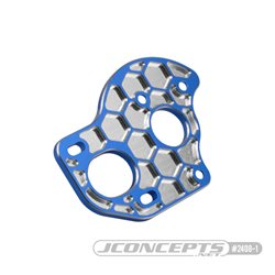 JConcepts - B6.1 | T6.1 | SC6.1, 3-gear laydown | layback transmission motor plate - honeycomb - blue