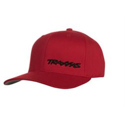 Flex Hat Curved Bill Red/Black Traxxas S-M