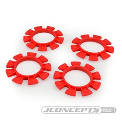 JConcepts - Satellite tire gluing rubber bands - red - fits 1/10th, SCT and 1/8th buggy