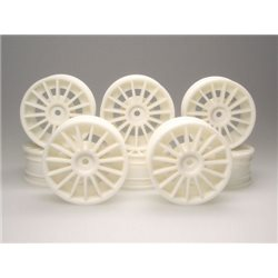 WHEEL AERO 1:10 15 SPOKE WHITE (8) KWC