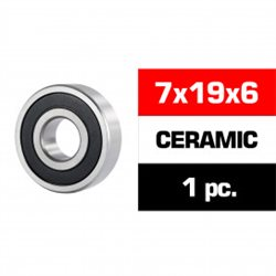"7x19x6mm CERAMIC ""3S"" RUBBER SEALED FRONT ENGINE BEARING (UR, NOVA) (1pc)"