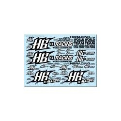 World Team HB Racing Decals Black