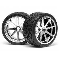 MOUNTED PHALTLINE TIRE 140X70MM ON BLAST WHEEL CHROME