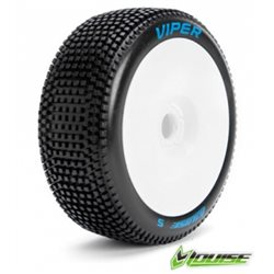 Tire & Wheel B-VIPER 1/8 Buggy Soft White (2)