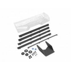 Hybrid, pre trimmed 1/8 buggy/truck wing, w/gurney options(black)