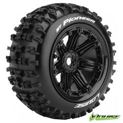 Tires & Wheels ST-PIONEER 1/8 Truck (Beadlock) Black (2)