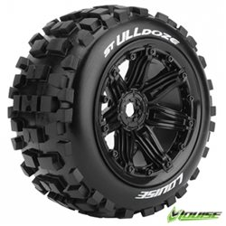 Tires & Wheels ST-ULLDOZE 1/8 Truck (Beadlock) Black (2)