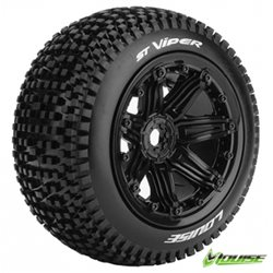 Tires & Wheels ST-VIPER 1/8 Truck (Beadlock) Black (2)