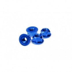 4mm locking wheel nut - fits all Traxxas, SC10 4x4, TLR 22, 22-T, SCT-E (blue)