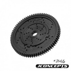 JConcepts - 48 pitch, 76T, SS Machined Spur Gear - fits TLR 22, 22-T and 22 SCT