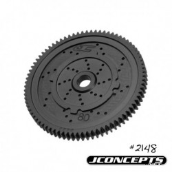 JConcepts - 48 pitch, 80T, SS Machined Spur Gear - fits TLR 22, 22-T and 22 SCT