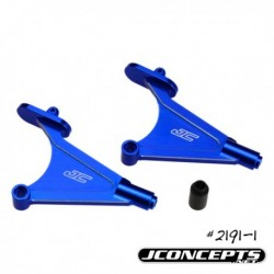 Jconcepts - TLR22 / 22T alu wing mount / body mounts - blue