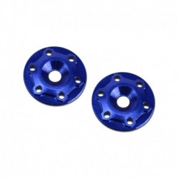 Finnisher - 1/8th buggy / truck - screw-in type aluminum wing button - blue