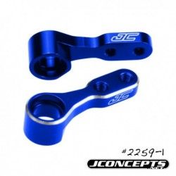 JConcepts - Kyosho RB6 / RT6 aluminum steering bell-cranks - blue