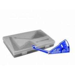 JConcepts - Aluminum ride height gauge, 10-40mm - blue