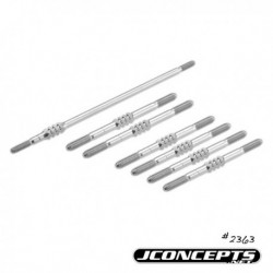 JConcepts - TLR 22-4 generation 3.5mm Fin titanium turnbuckle set - 7pc.