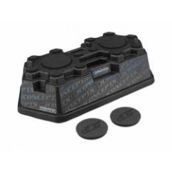 JConcepts - Finnisher car stand - matte black w/ pads and logo plugs