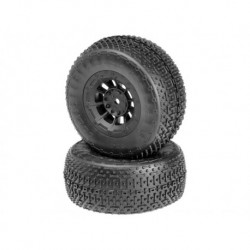 Goose Bumps - green compound - black Hazard 12mm wheel - (SC10 RS, 4x4 pre-mounted)
