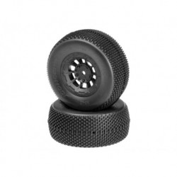 Subcultures - green compound - black Hazard 12mm wheel - (SC10 RS, 4x4 pre-mounted)