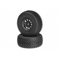 Choppers - blue compound - black Hazard 12mm wheel - (SC10 RS, 4x4 pre-mounted)