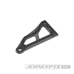 B74 Carbon Fiber hanging servo mount plate, ribbed and chamfered
