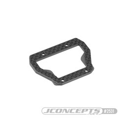 B74 Carbon Fiber center bulkhead top-plate, ribbed and chamfered