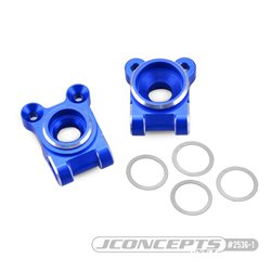 B74 Aluminum rear hub carriers, blue - set