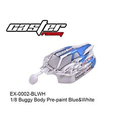 1/8 Buggy Body Pre-paint Blue&White