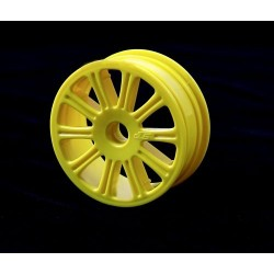 Rulux - 1/10th RC10B4 front wheel (yellow) - 4pc