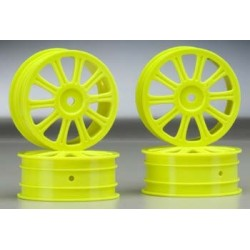 Rulux - 1/10th B44 front wheel (yellow) - 4pc