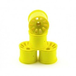 Rulux - 1/10th RC10T4 / GT2 front wheel (yellow) - 4pc