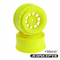 Hazard - SC5M +3mm wider off-set - 12mm hex wheel - 2pc. - (yellow)