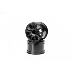 "Rulux - 1/16th E-Revo wheel - 2.2"" - (black) - 2pc."