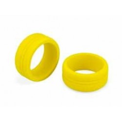 Dirt Wheel - Foam grip Yellow 2pc, fits Sanwa, Futaba, KO & Spektrum