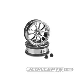 "Tactic - Slash | Bandit, Street Eliminator 2.2"" 12mm hex front wheel - (chrome)"