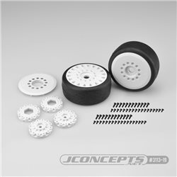 Speed Fangs - platinum compound, Belted, pre-mounted on white 3395 wheels