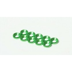 M3 Countersunk Washer 10pcs (Green)