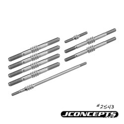 JConcepts - TLR 8ight 4.0, Fin Titanium turnbuckle set - 8pc
