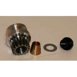 Flywheel and steelgear, cone, nut 14T for MM300