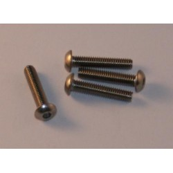 Button head cap screw in stainless M4x20mm