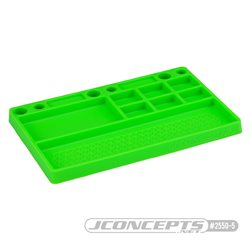 JConcepts parts tray, rubber material - Neon green