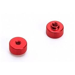 Battery retaining nut (Red) x2pcs