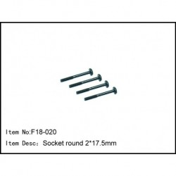 Socket round 2*18mm