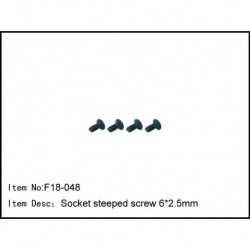 Socket steeped screw6.5*2.5mm
