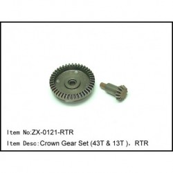 Crown Gear Set (43t & 13t ),Rtr