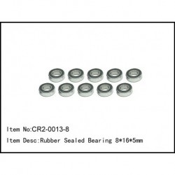 Rubber sealed bearing 8x16