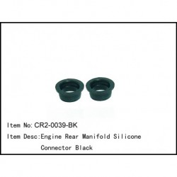 Engine rear manifold silicon connector Black