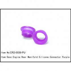 Engine rear manifold silicon connector Purple
